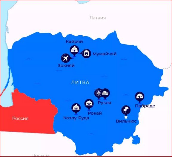 US and NATO bases in Lithuania
