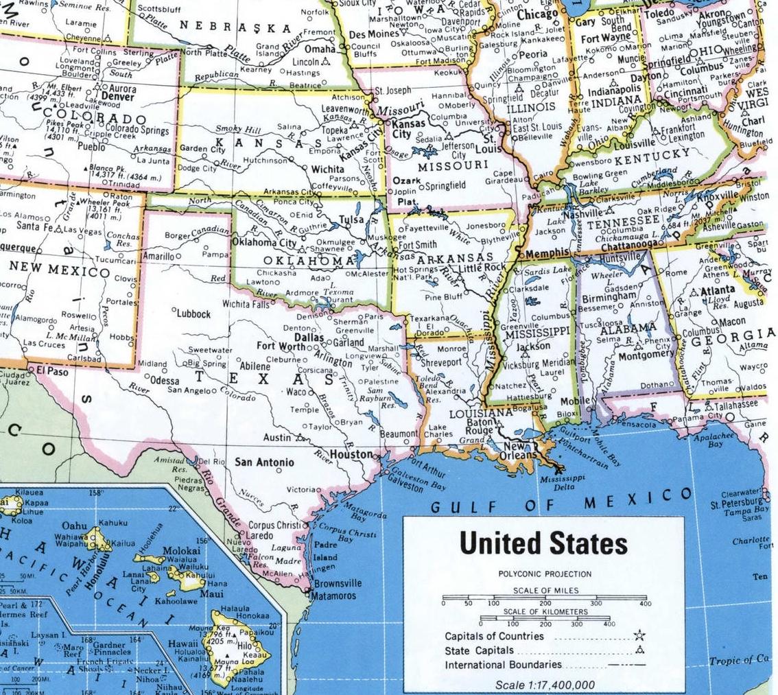 Image of: Maps Of Southern Region United States Map Of Usa