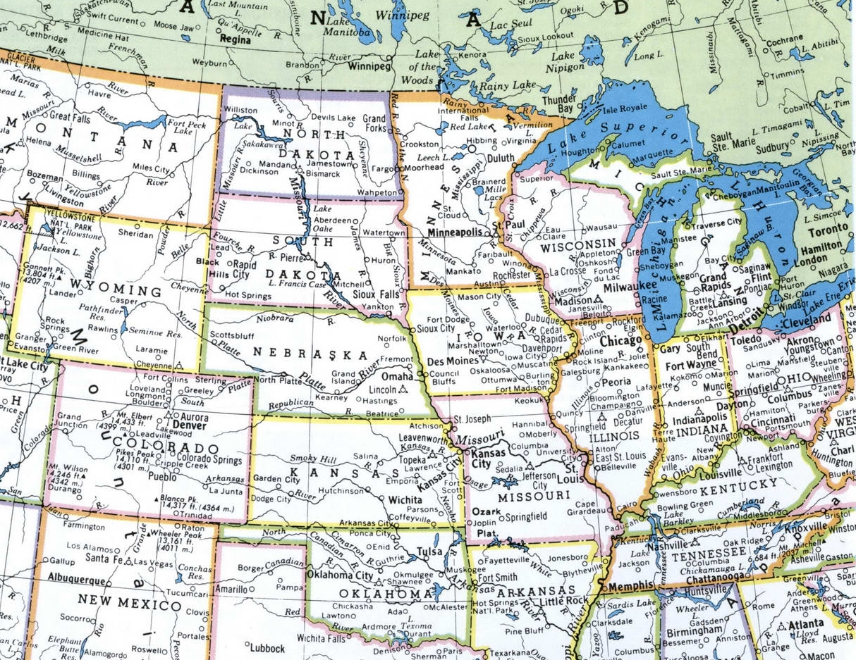 Picture of: Maps Of Midwestern Region Of United States Map Of Usa