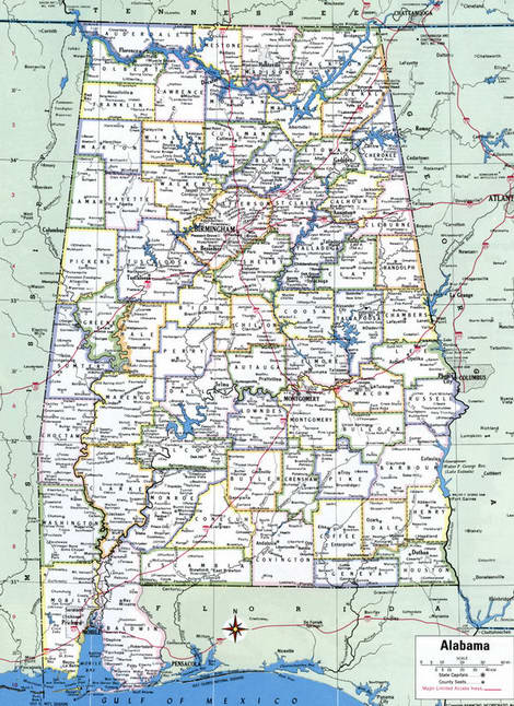 Counties of Alabama state