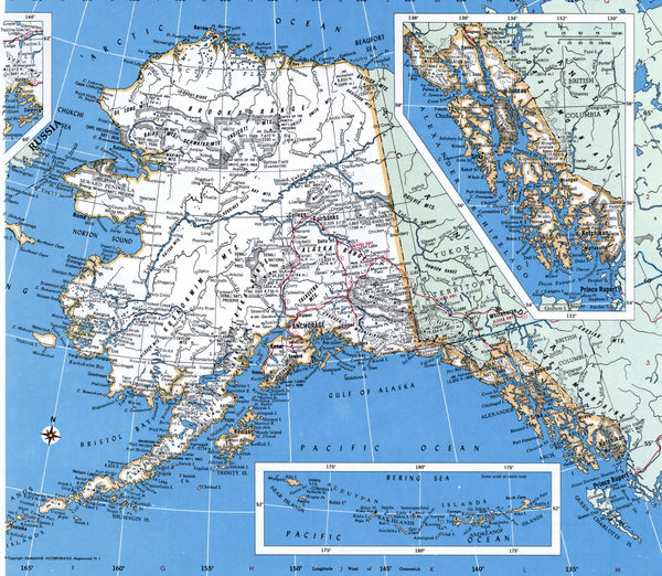 Map Counties of Alaska state