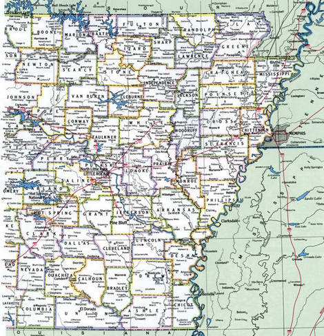 Map Counties of Arkansas state