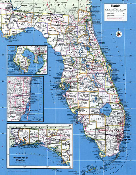 Map Counties of Florida state