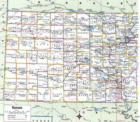 Counties of Kansas state