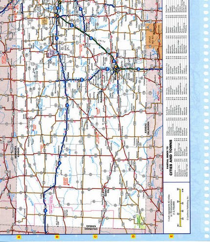Map of Kansas state - national parks, reserves, recreation areas