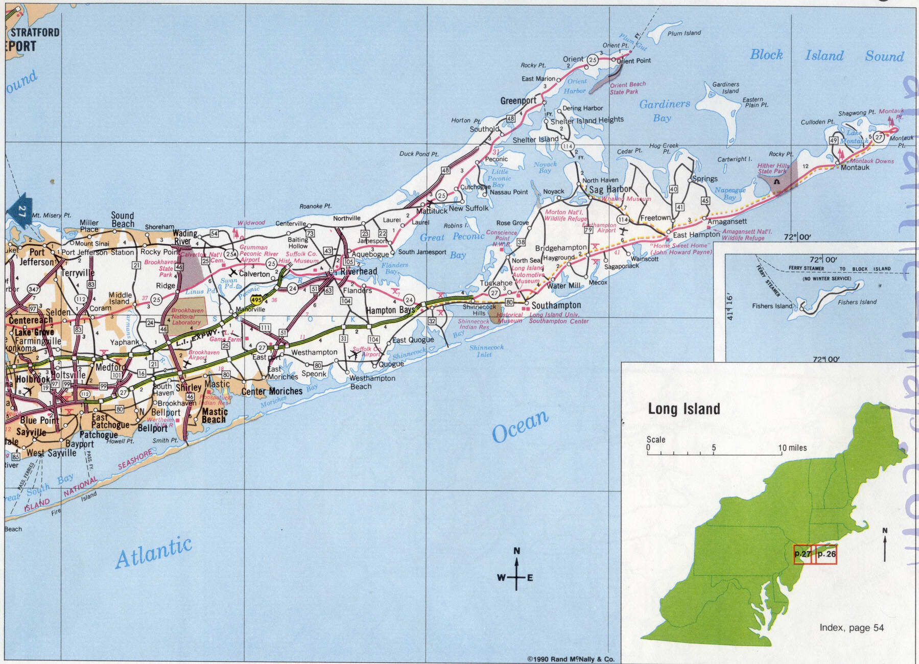 Picture of: Long Island Road Map Image Detailed Highway Map Of Long Island Map Of Usa