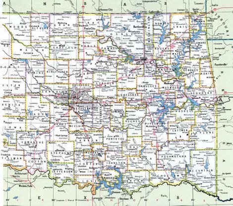 Counties of Oklahoma state