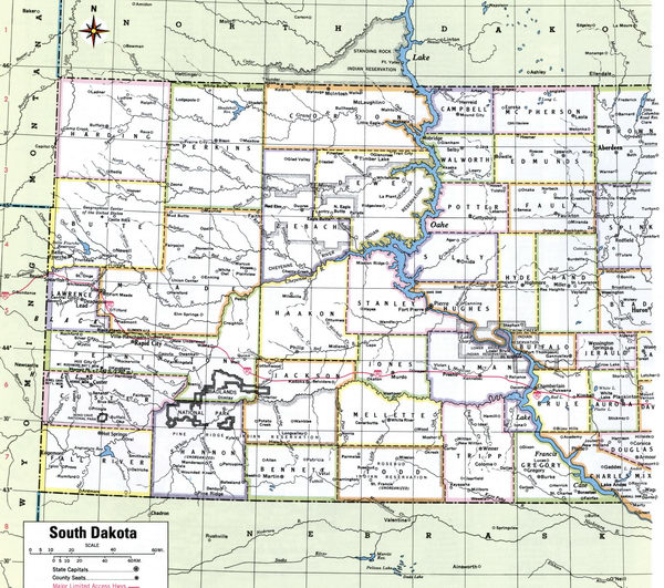 Counties of South Dakota state