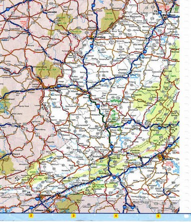 Southeast Virginia map