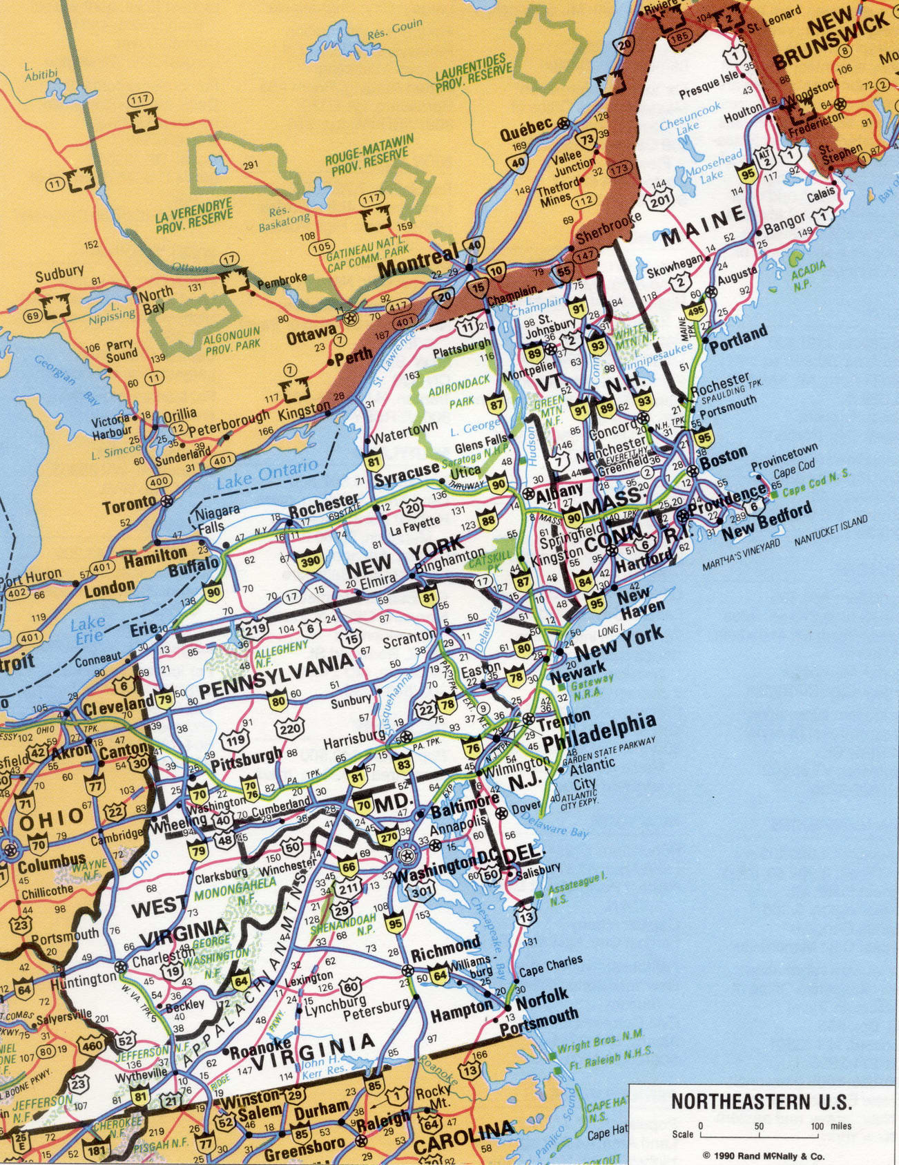 Image of: Maps Of Northeastern Region United States Map Of Usa
